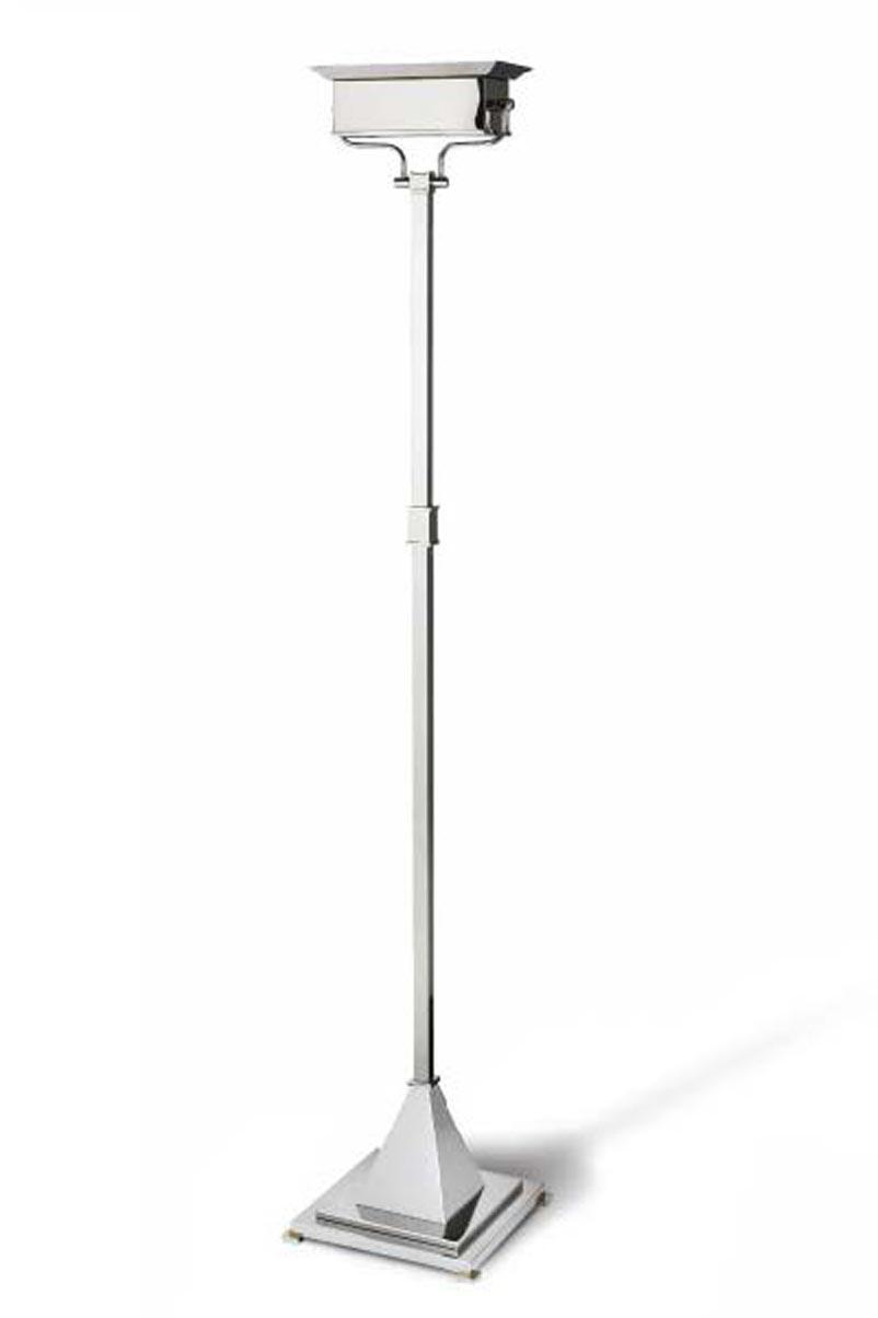 Freud lampadaire style classique bronze chromé forme rectangulaire. Jacques Garcia.