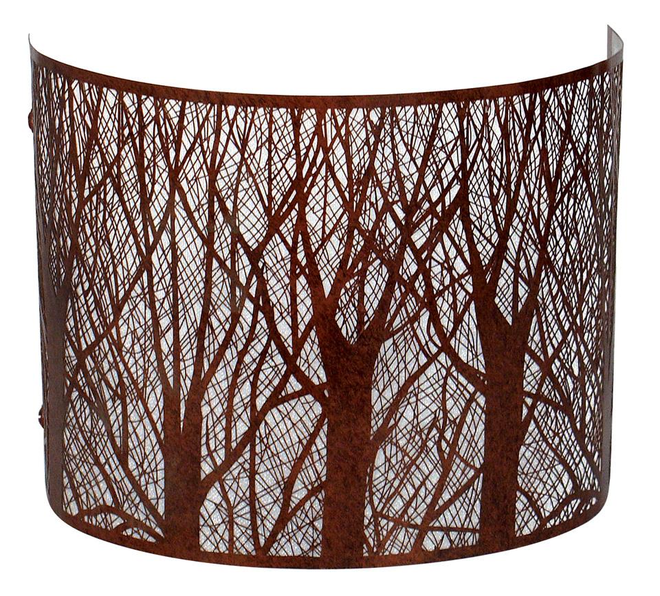 Applique bandeau Forêt métal rouillé. JP Ryckaert.
