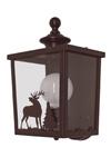 Applique lanterne d'extérieur, métal patiné, verre transparent. JP Ryckaert.