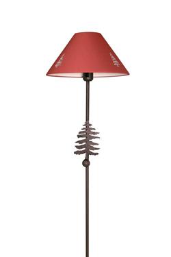 lampadaire montagne d coupe sapins et abat jour rouge r f 17090022. Black Bedroom Furniture Sets. Home Design Ideas