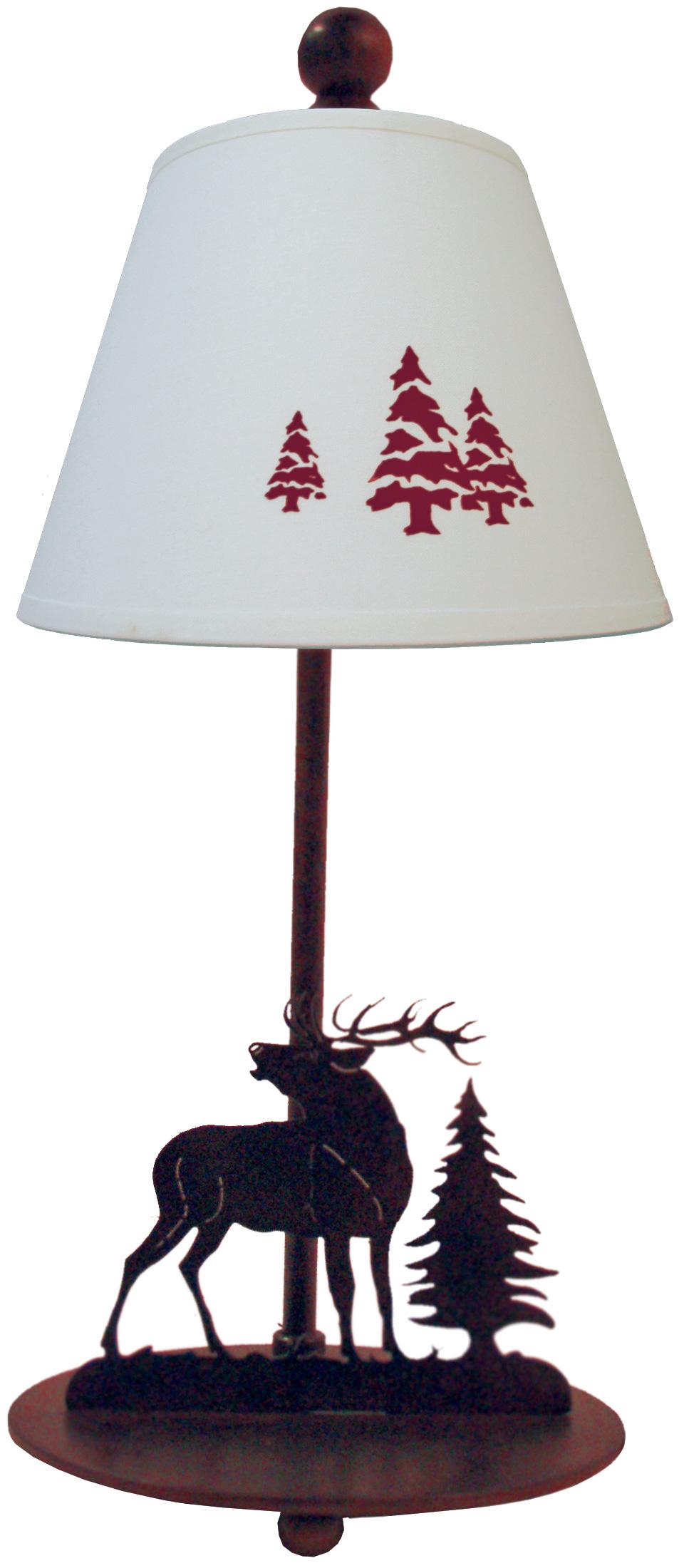 Lampe de chevet cerf style montagne r f 17090026 - Lampe table de chevet ...