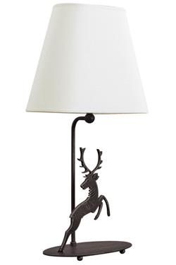 Lampe de table Montagne silhouette de cerf bondissant. JP Ryckaert.