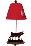 Lampe de table Sapins et vache. JP Ryckaert.
