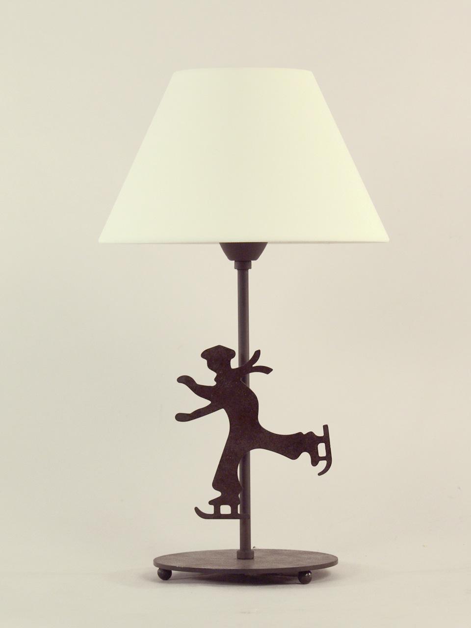 Lampe patineur abat-jour cotonette blanc. JP Ryckaert.
