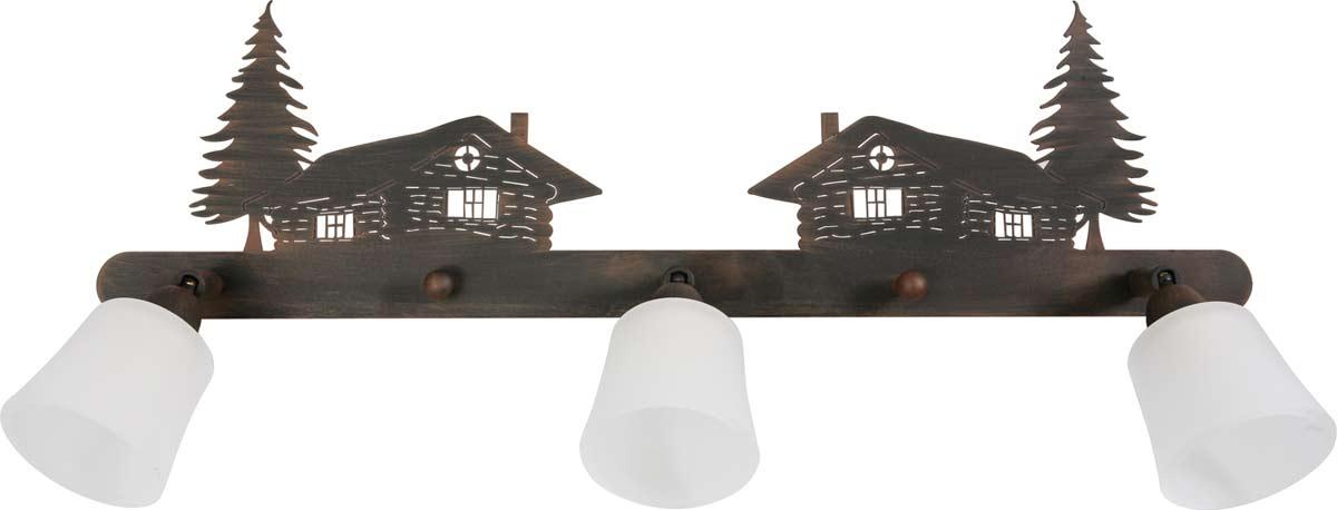 montagne verre applique chalet 3 lumi res r f 09110230. Black Bedroom Furniture Sets. Home Design Ideas