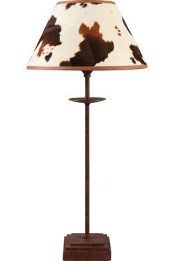Peau de vache Lampe en métal rouillé. JP Ryckaert.