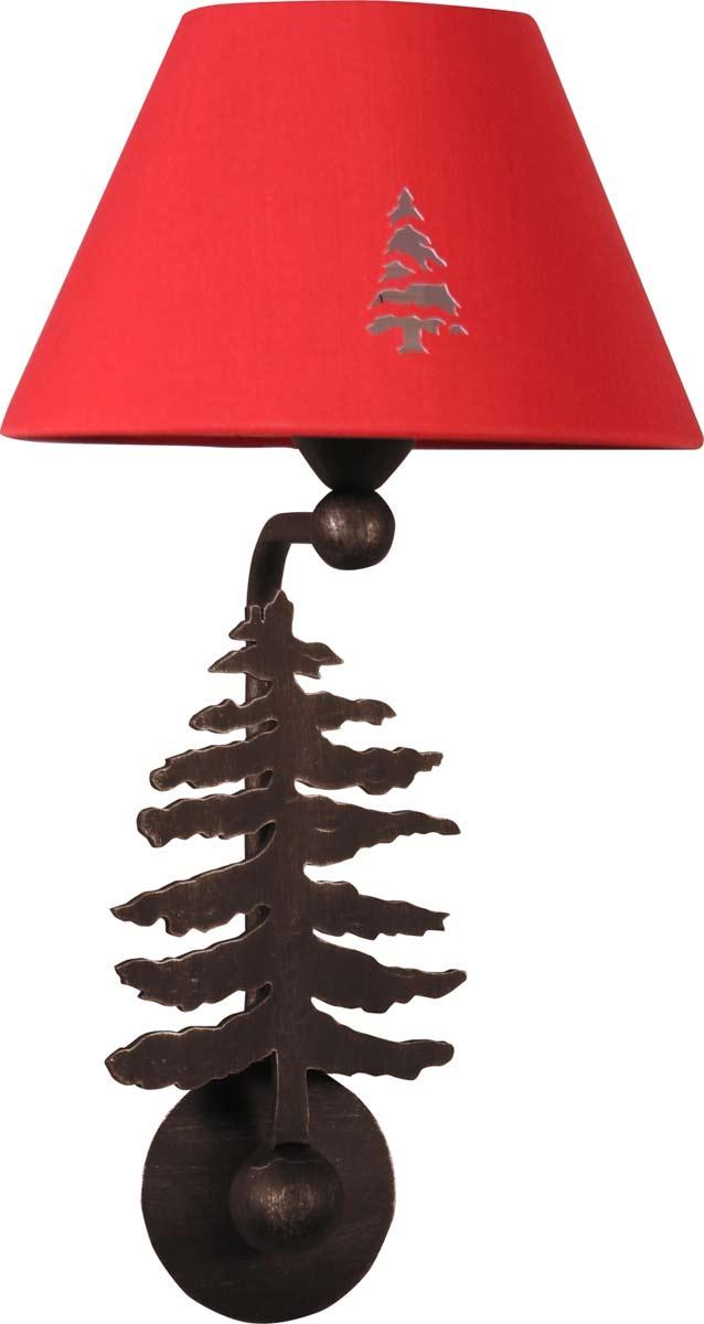 silhouette sapin applique en m tal rouill r f 09110218. Black Bedroom Furniture Sets. Home Design Ideas