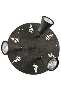 Silhouette Sapin Plafonnier 3 lumières. JP Ryckaert.