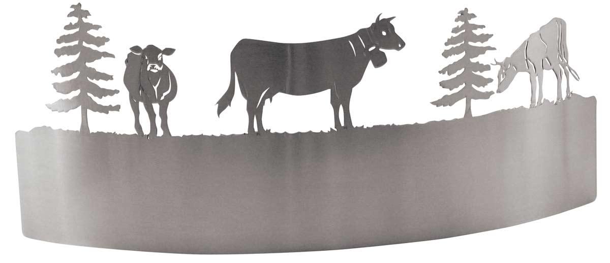 Vaches Applique avec fenêtre acier satiné. JP Ryckaert.