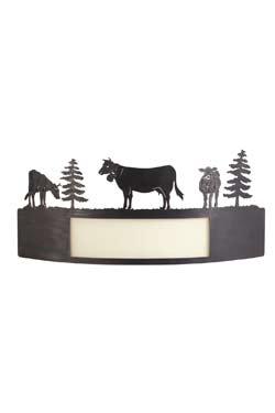 Vaches Applique avec fenêtre marron foncé. JP Ryckaert.