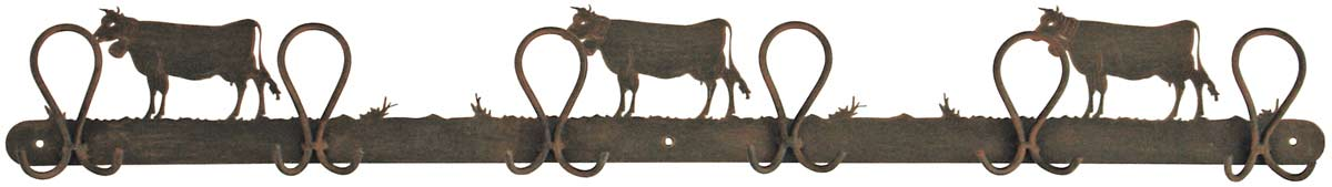 Vaches Patère 6 crochets doubles. JP Ryckaert.
