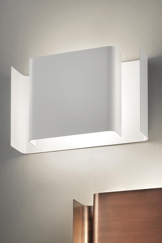 Applique murale aluminium blanc mat Alalunga. Karboxx.