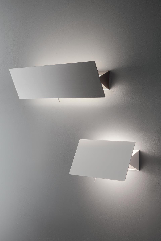 Applique orientable à volet métal blanc Shadow 33cm. Karboxx.