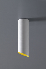 Slice yellow and white ceiling lamp 36cm. Karboxx.
