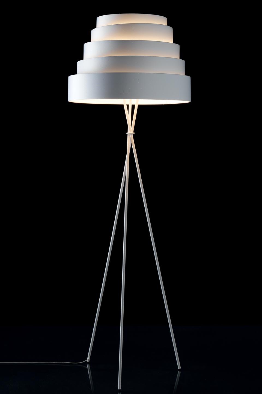 lampadaire blanc en tissu nid d 39 abeilles babel r f 13110210. Black Bedroom Furniture Sets. Home Design Ideas