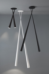 Drink double ceiling lamp in  black carbon 63cm. Karboxx.