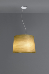 Grace design pendant in fiberglass and linen. Karboxx.