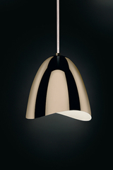 Mirage pendant polished brass bell and LED lighting. Karboxx.