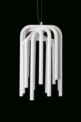 Pipes suspension de tubes blanc. Karboxx.