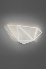 Starlight white wall lamp with graphic design. Karboxx.
