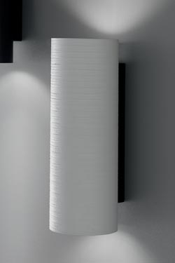 White fiberglass wall light Tube 40cm. Karboxx.