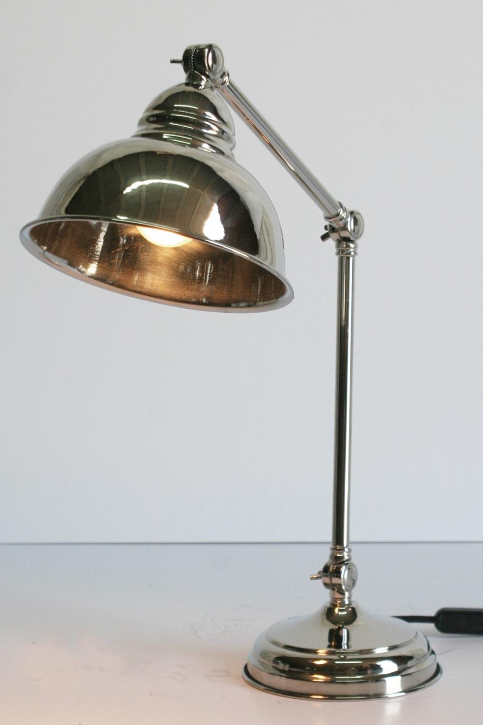 Cm04 Lampe De Table Spherique En Laiton Chrome Latoaria Laiton