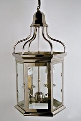 Pombalina chrome-plated brass lantern. Latoaria.