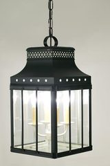 Roma black lantern in lacquered brass. Latoaria.