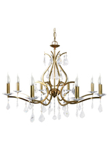 Palazzo golden metal chandelier 8 lights. Le Dauphin.
