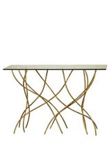Golden console table Sarment. Le Dauphin.