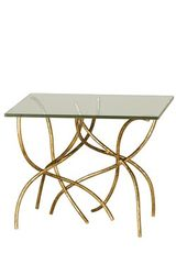 Golden end table Sarment. Le Dauphin.
