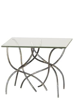 Silver end table Sarment. Le Dauphin.
