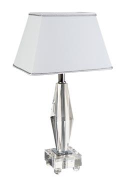 Delta  lampe en verre optique et métal chromé. Le Dauphin.