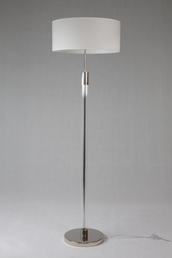 Lavina floor lamp in chromed metal and optical glass. Le Dauphin.