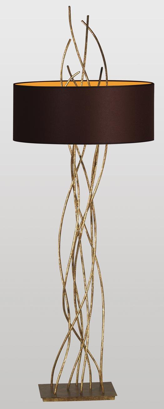 Sarana Gold Floor Lamp Le Dauphin