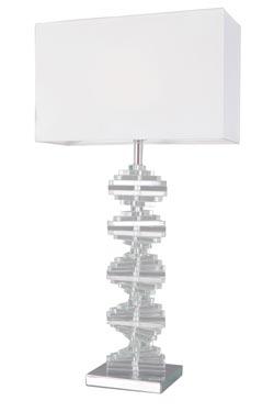 Grande lampe en verre optique Artica. Le Dauphin.