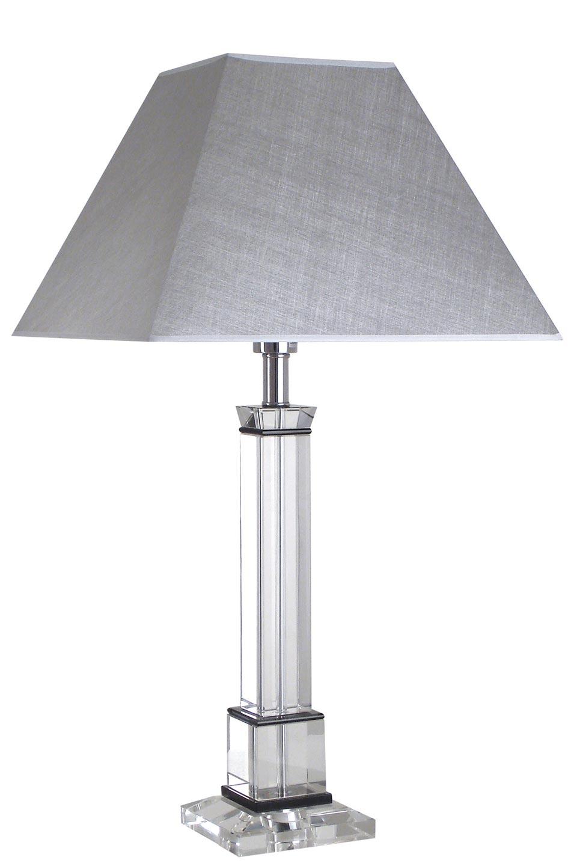 Grande lampe en verre optique Hylana Agp. Le Dauphin.