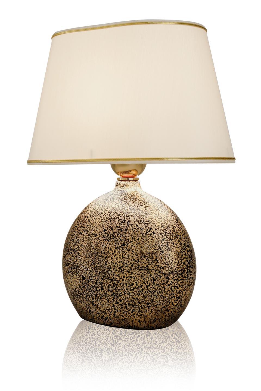 Hel petite lampe en céramique mouchetée. Le Dauphin.