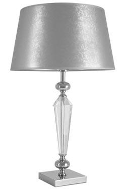 Lampe abat-jour damasséen verre optique Horia AH . Le Dauphin.
