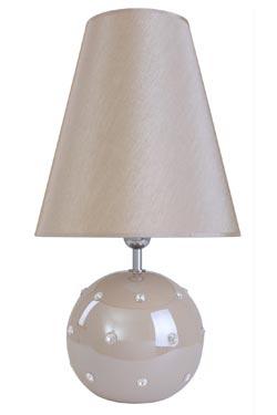 Lampe beige nacré avec brillants en céramique  Tania . Le Dauphin.