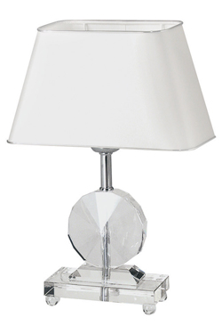 Lampe de table en verre transparent Diem. Le Dauphin.