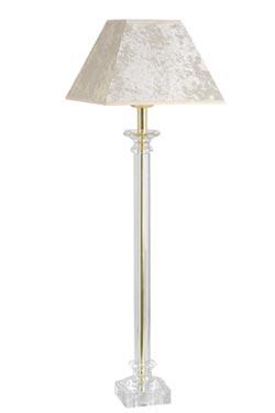 Lampe dorée abat-jour moiré ivoire en verre optique Bucigny Or . Le Dauphin.