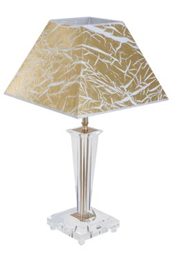 Lampe dorée et verre optique Viana Or. Le Dauphin.