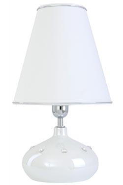 Lampe en céramique blanche nacrée  Silla  . Le Dauphin.