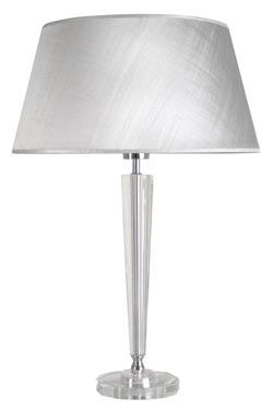 Lampe en verre optique et gris argent Henola AG e . Le Dauphin.