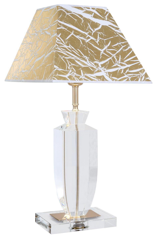 Lampe en verre optique Pompadour Or. Le Dauphin.