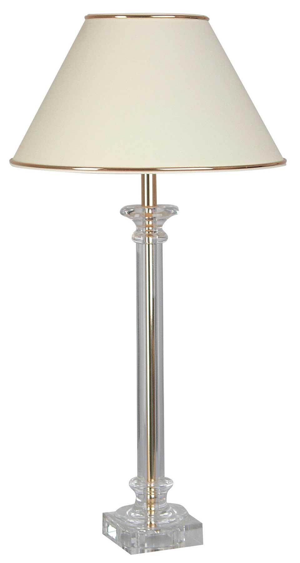 Lampe or et ivoire Buci verre optique ultra-pur. Le Dauphin.