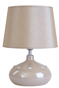 Lampe Silla beige nacré en céramique  . Le Dauphin.