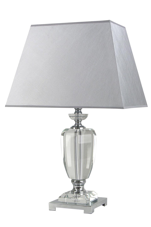 Lampe tissu gris et verre optique  Carma AG . Le Dauphin.