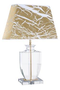 Lampe Versailles Or en verre optique . Le Dauphin.